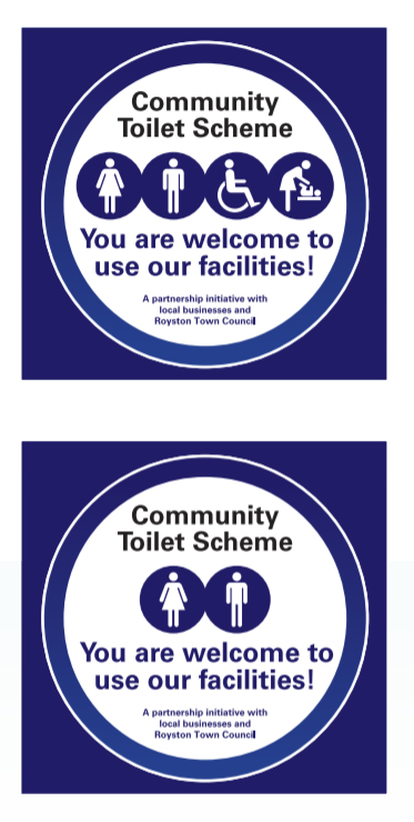 community toilet scheme sign